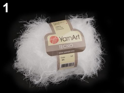 Pletacia priadza Tecno 50 g YarnArt biela 1ks
