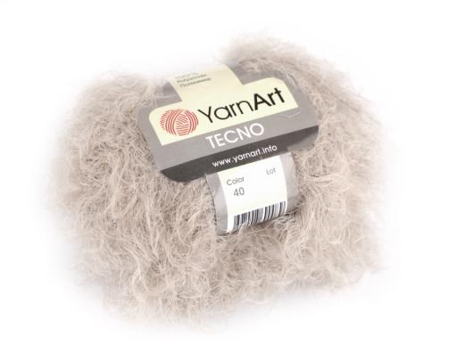 Pletacia priadza Tecno 50 g YarnArt béžová sv. 1ks