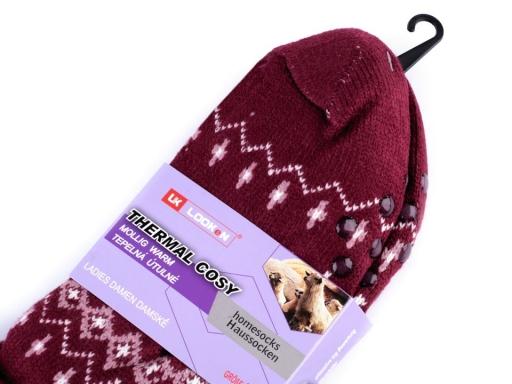 Ponožky zimné s protisklzom, vlnené šedá 1pár