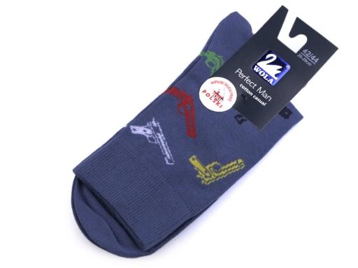 Pánske ponožky farebné, bavlnené Wola lososová tm. 1pár