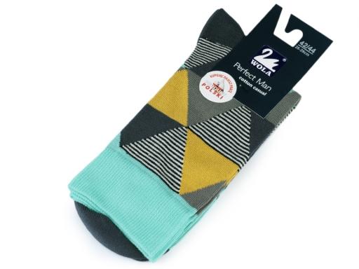 Pánske ponožky farebné, bavlnené Wola horčicová 1pár