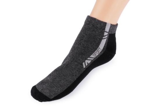 Pánske bavlnené ponožky kotníkové šedá 1pár
