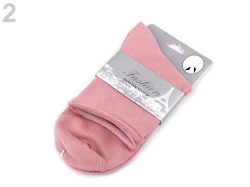 Dámske bavlnené ponožky biela 1pár
