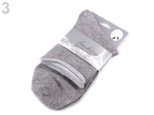 Dámske bavlnené ponožky pudrová 1pár