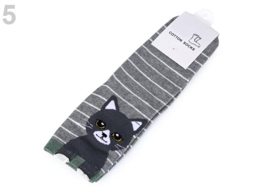 Dievčenské ponožky mačka ružová sv. 1pár