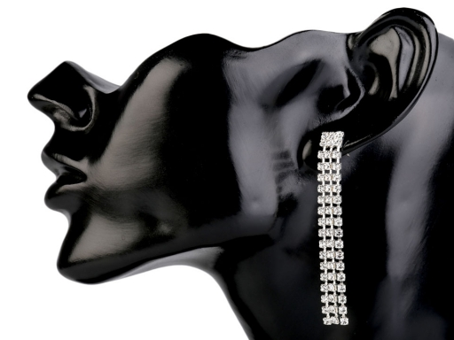 Štrasové náušnice - jablonecká bižutéria crystal 1pár