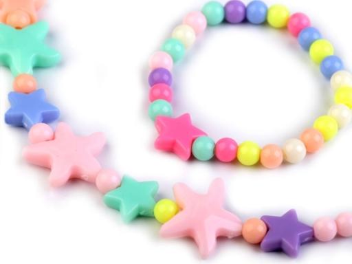 Detská sada náhrdelník a náramok s hviezdami multikolor 1sada