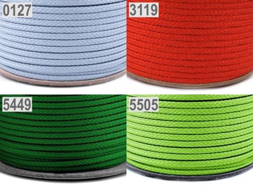 Odevná šnúra PES Ø2 mm Rosebloom 250m