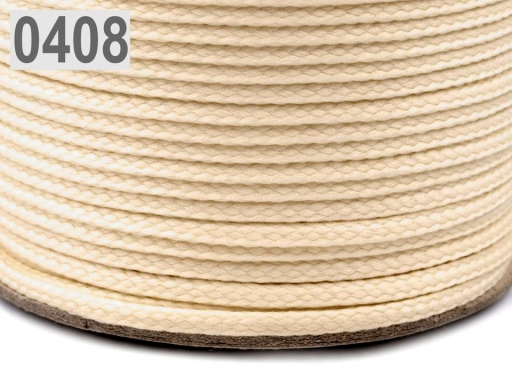 Odevná šnúra PES Ø2 mm Gossamer Pink 50m