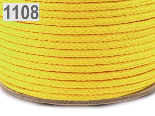 Odevná šnúra PES Ø2 mm Vanilla Custard 50m