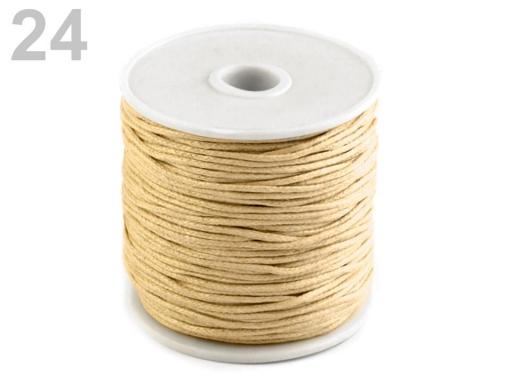 Šnúra bavlnená Ø1 mm voskovaná šedá 6ks