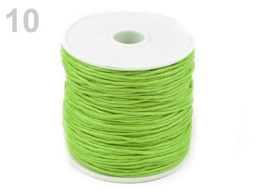Šnúra bavlnená Ø1 mm voskovaná zelená jedla 6ks