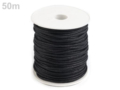 Šnúra bavlnená Ø2 mm voskovaná ecru 50m