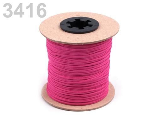 Odevná šnúra PES Ø1,5 mm Fiery Red 100m