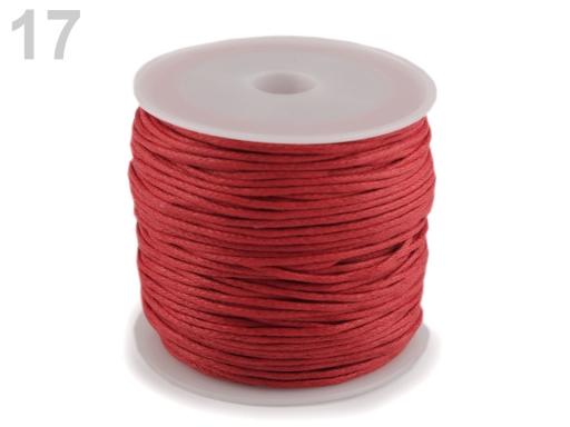 Šnúra bavlnená Ø0,8 mm voskovaná modrá tm. 1ks