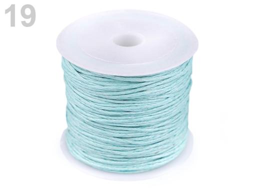 Šnúra bavlnená Ø0,8 mm voskovaná hnedá 1ks