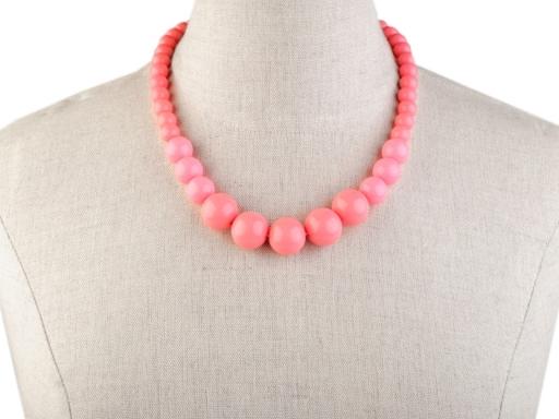 Retro náhrdelník a náramok pink 1sada