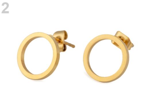 Náušnice krúžky z nerezovej ocele zlatá 1pár