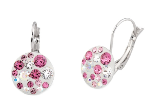 Náušnice so Swarovski Elements Carmine Rose 1pár