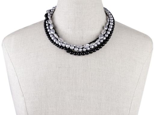 Perlový náhrdelník čierna 1ks
