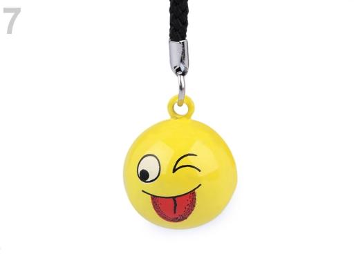 Prívesok na mobil / kľúče rolnička zelená sv. 1ks