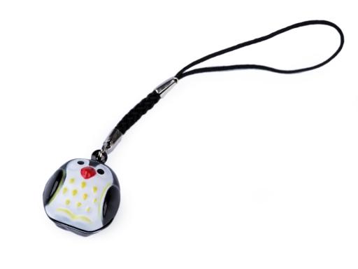 Prívesok na mobil / kľúče rolnička žltá 1ks