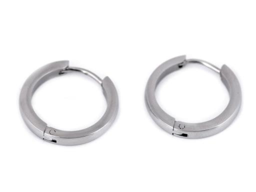 Náušnice z nerezovej ocele kruhy platina 1pár