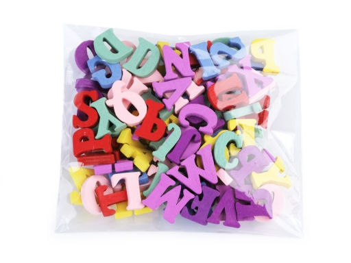 Drevené písmená abecedy, čísla 15 mm