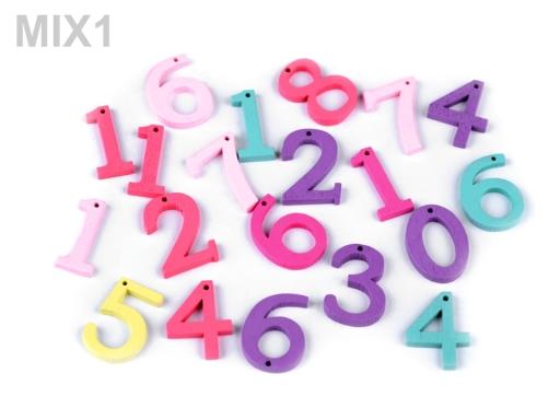 Drevené písmená abecedy, čísla