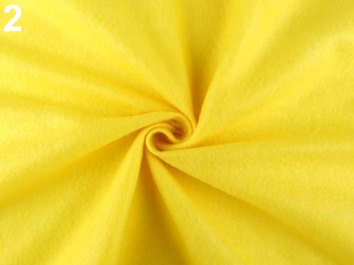 Filc / plsť metráž žltá 1m