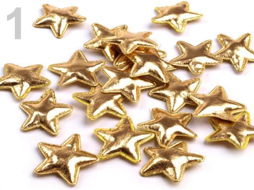 Vianočná hviezda Ø30 mm zlatá 100ks