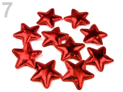 Vianočná hviezda Ø30 mm modrá sýta 100ks