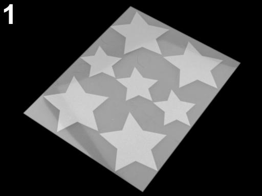 Reflexné nažehlovačky 9x12 cm šedá perlovo 10sáčok