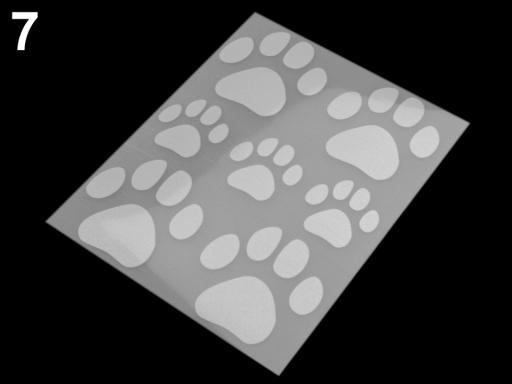 Reflexné nažehlovačky 9x12 cm šedá perlovo 1sáčok