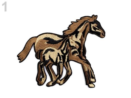 Nažehlovačka kone hnedá sv. 10ks