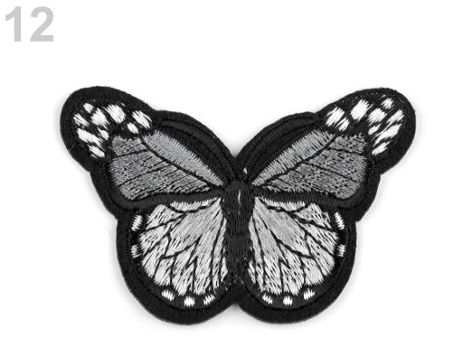 Nažehlovačka motýľ šedá 1ks