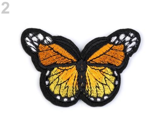 Nažehlovačka motýľ oranžovožltá 1ks