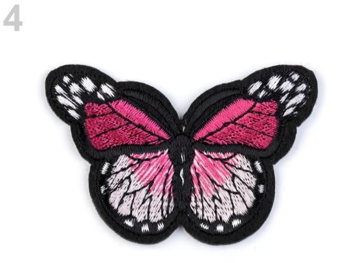 Nažehlovačka motýľ malinová 1ks
