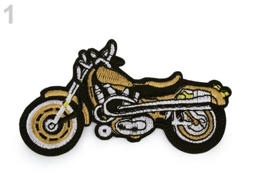 Nažehlovačka motorka zlatá 1ks