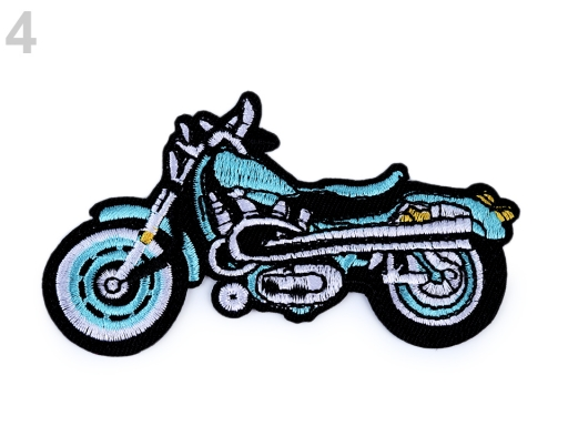 Nažehlovačka motorka tyrkys 1ks