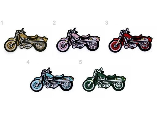 Nažehlovačka motorka zelená lesná 1ks