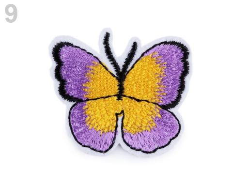 Nažehlovačka motýľ fialková 2ks