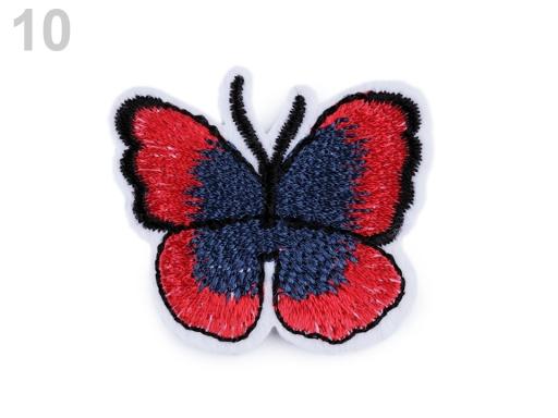 Nažehlovačka motýľ červená tm 2ks
