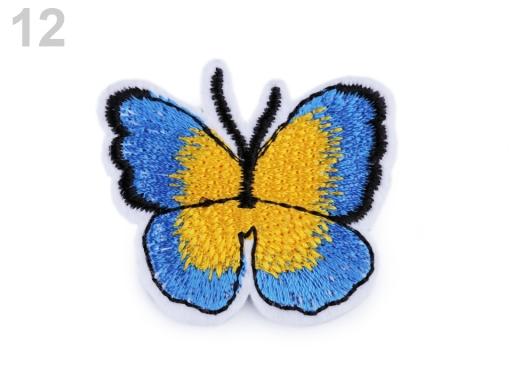 Nažehlovačka motýľ tyrkys 2ks