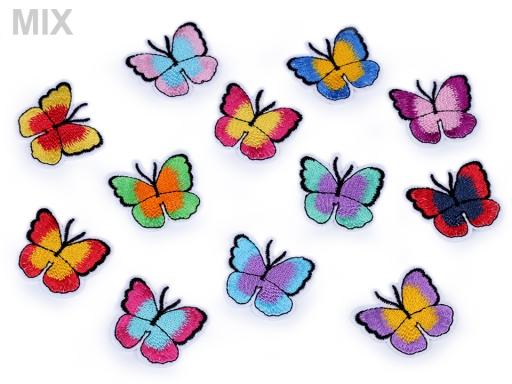 Nažehlovačka motýľ mix variant 2ks