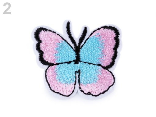 Nažehlovačka motýľ ružová sv. 2ks