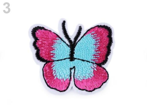 Nažehlovačka motýľ pink 2ks