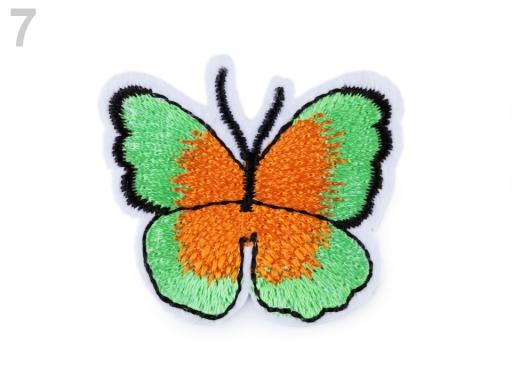 Nažehlovačka motýľ zelená sv. 2ks