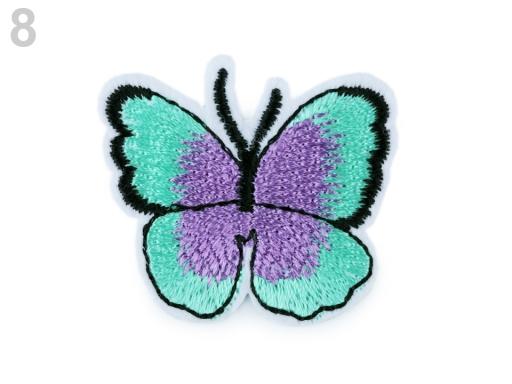 Nažehlovačka motýľ zelená pastel sv 2ks