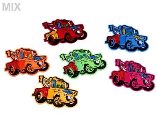 Nažehlovačka auto žltá 1ks
